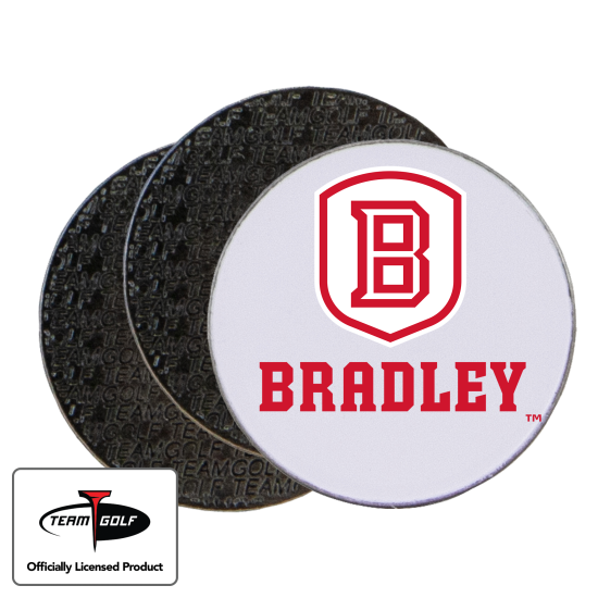 Classic Bradley Braves Ball Markers - 3 Pack