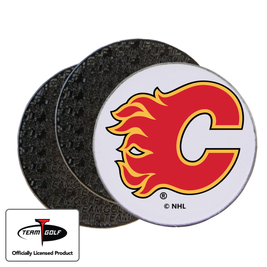 Classic Calgary Flames Ball Markers - 3 Pack