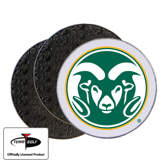 Classic Colorado State Rams Ball Markers - 3 Pack