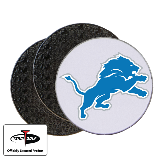 Classic Detroit Lions Ball Markers - 3 Pack