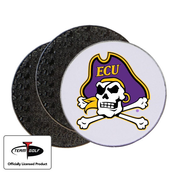 Classic East Carolina Pirates Ball Markers - 3 Pack