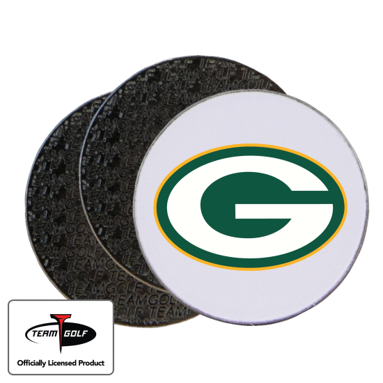 Classic Green Bay Packers Ball Markers - 3 Pack