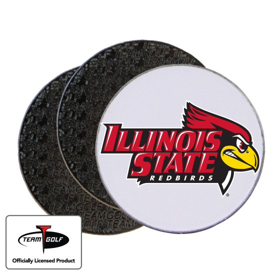 Classic Illinois State Redbirds Ball Markers - 3 Pack