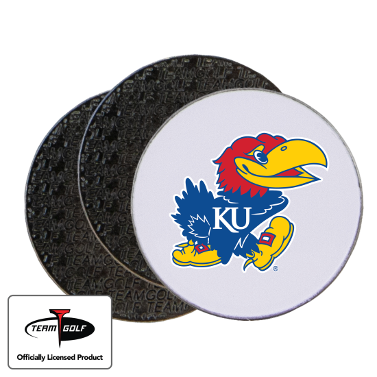Classic Kansas Jayhawks Ball Markers - 3 Pack