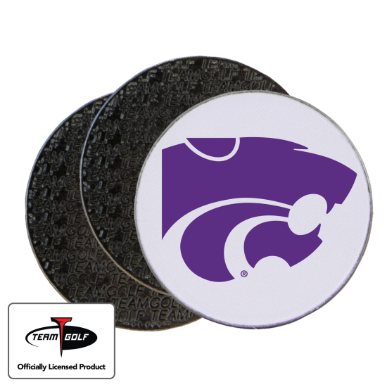 Classic Kansas State Wildcats Ball Markers - 3 Pack