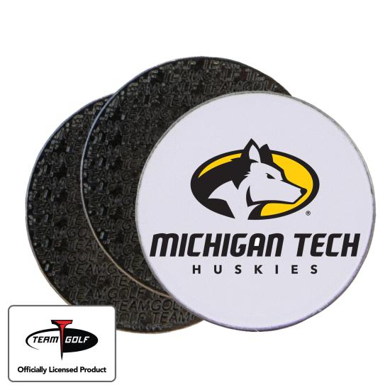 Classic Michigan Tech Huskies Ball Markers - 3 Pack