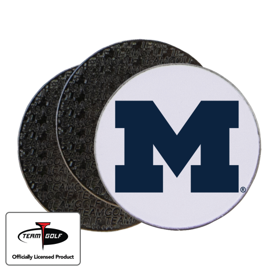 Classic Michigan Wolverines Ball Markers - 3 Pack