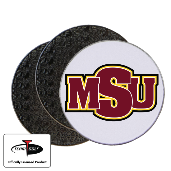Classic Midwestern State Mustangs Ball Markers - 3 Pack