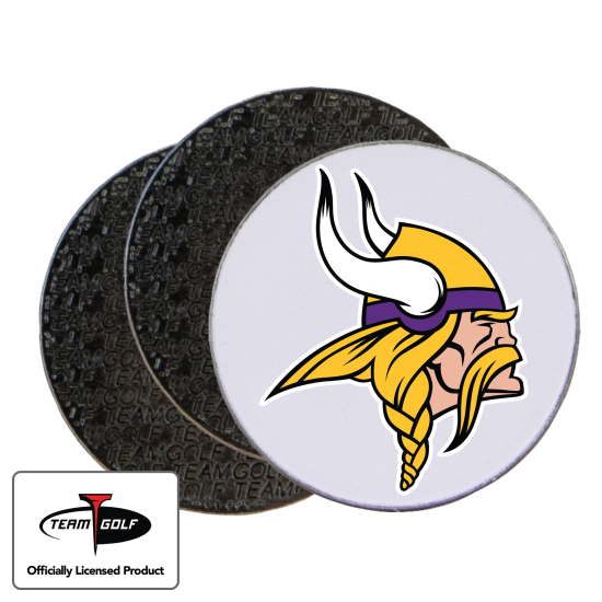 Classic Minnesota Vikings Ball Markers - 3 Pack