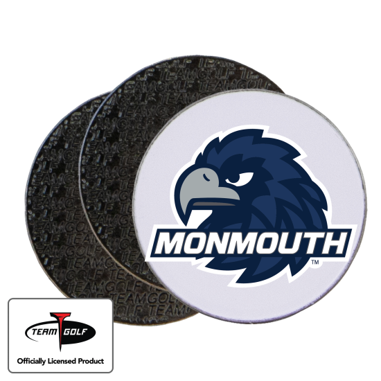 Classic Monmouth Hawks Ball Markers - 3 Pack