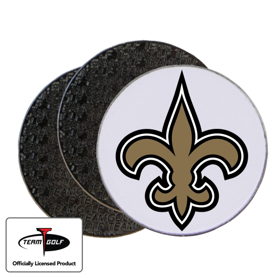 Classic New Orleans Saints Ball Markers - 3 Pack