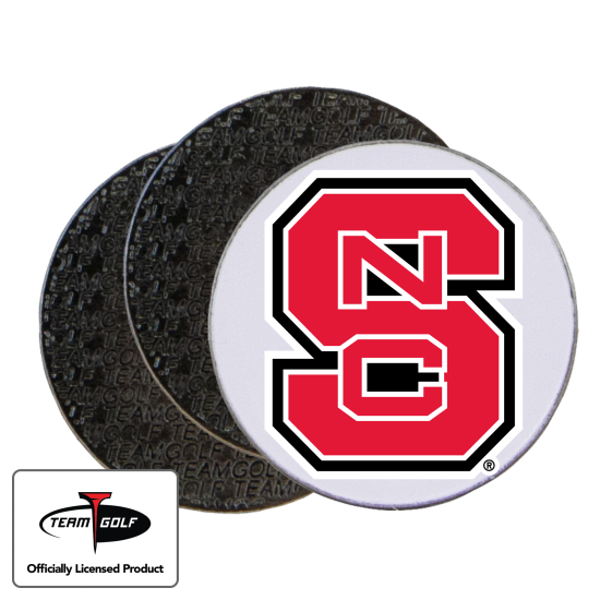 Classic North Carolina State Wolfpack Ball Markers - 3 Pack