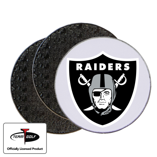Classic Oakland Raiders Ball Markers - 3 Pack