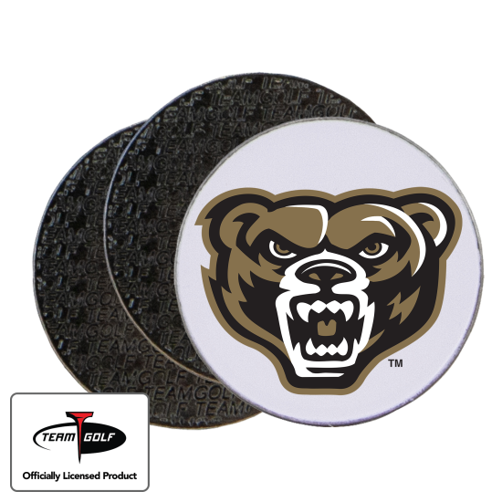 Classic Oakland Golden Grizzlies Ball Markers - 3 Pack