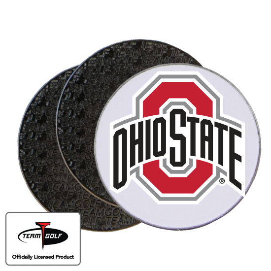 Classic Ohio State Buckeyes Ball Markers - 3 Pack