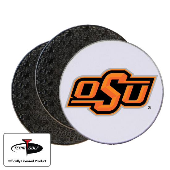 Classic Oklahoma State Cowboys Ball Markers - 3 Pack