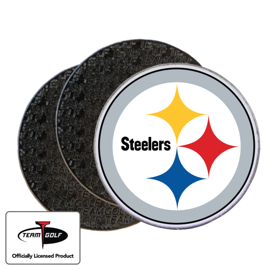Classic Pittsburgh Steelers Ball Markers - 3 Pack