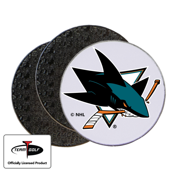 Classic San Jose Sharks Ball Markers - 3 Pack