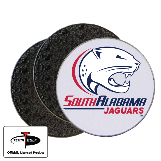 Classic South Alabama Jaguars Ball Markers - 3 Pack