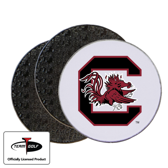 Classic South Carolina Fighting Gamecocks Ball Markers - 3 Pack