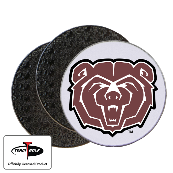 Classic Southwest Missouri State Bears Ball Markers - 3 Pack