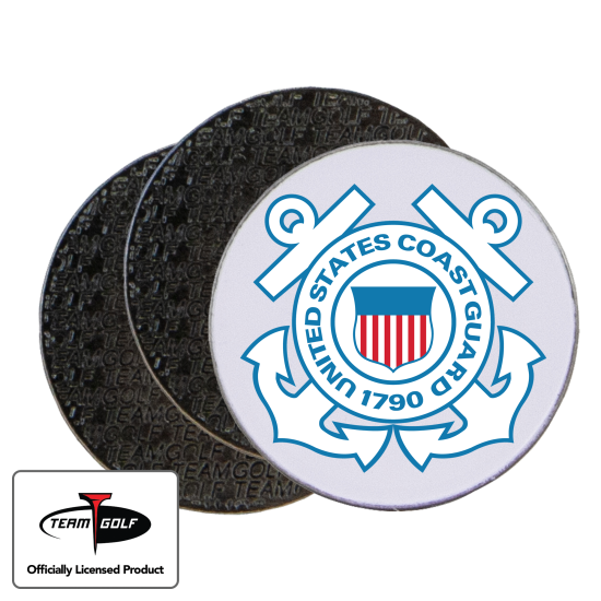 Classic US Coast Guard Ball Markers - 3 Pack