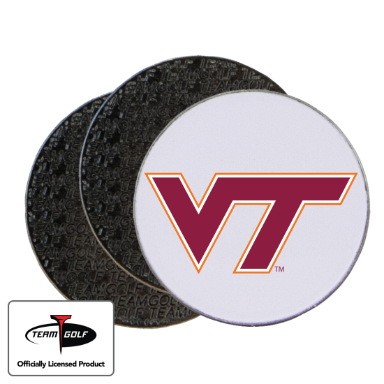 Classic Virginia Tech Hokies Ball Markers - 3 Pack