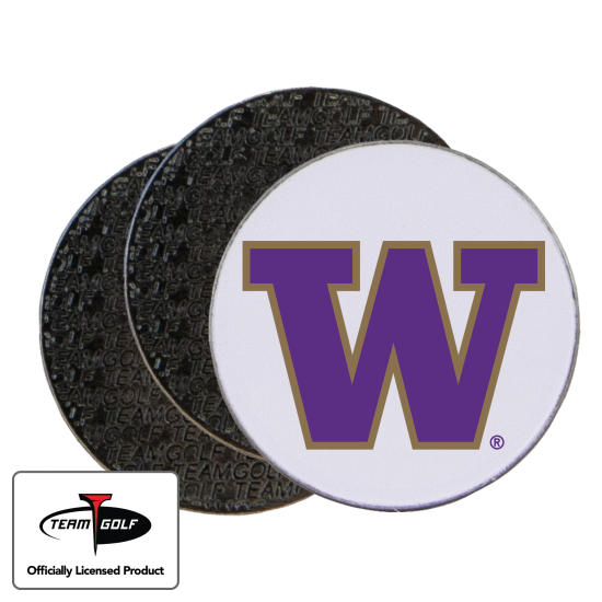 Classic Washington Huskies Ball Markers - 3 Pack
