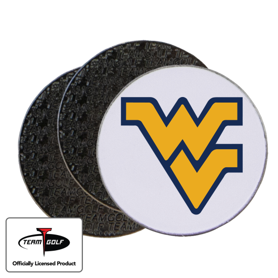 Classic West Virginia Mountaineers Ball Markers - 3 Pack