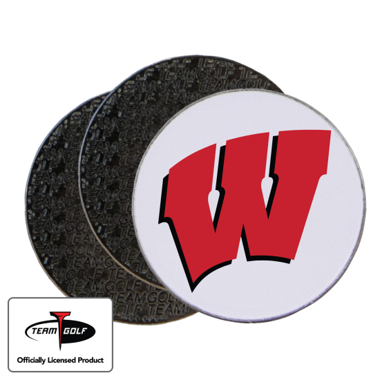 Classic Wisconsin Badgers Ball Markers - 3 Pack