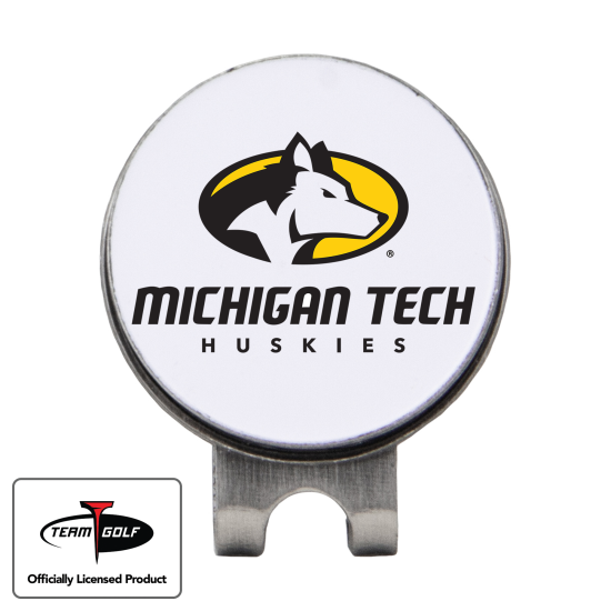 Classic Michigan Tech Huskies Hat Clip