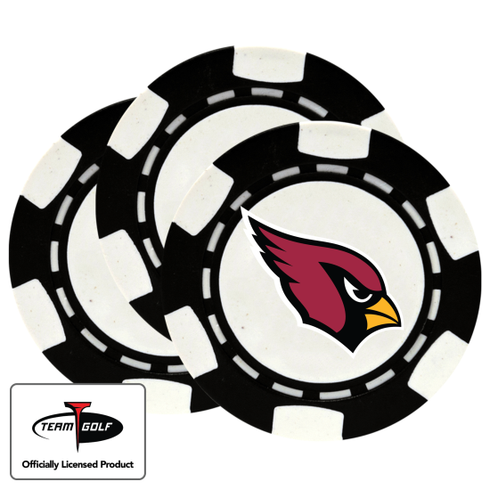 Classic Arizona Cardinals Poker Chips - 3 Pack