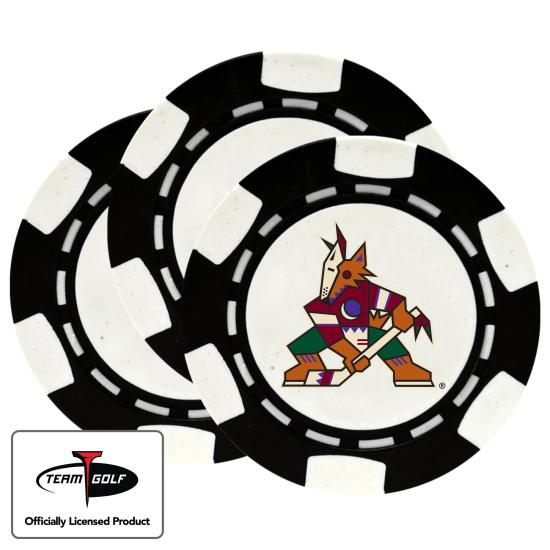 Classic Arizona Coyotes Poker Chips - 3 Pack