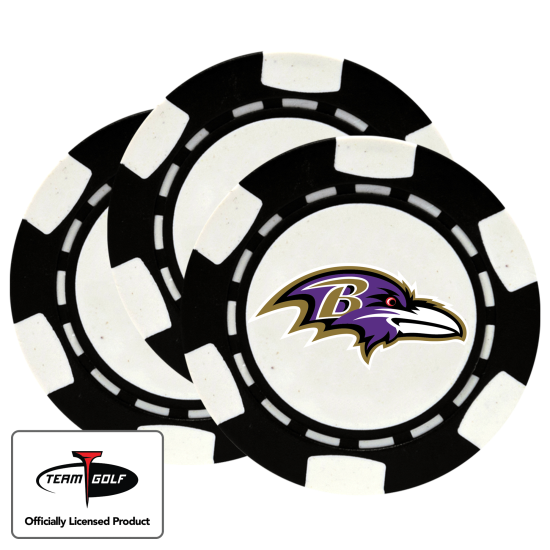Classic Baltimore Ravens Poker Chips - 3 Pack