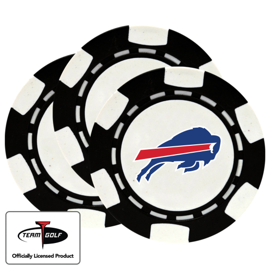 Classic Buffalo Bills Poker Chips - 3 Pack