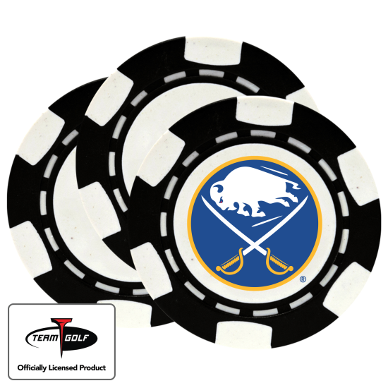 Classic Buffalo Sabres Poker Chips - 3 Pack