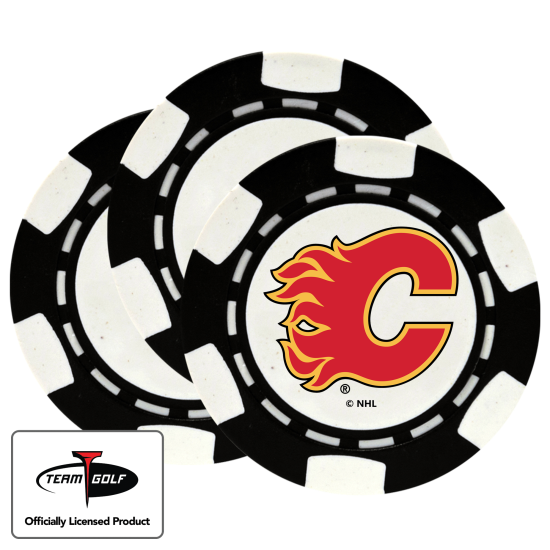Classic Calgary Flames Poker Chips - 3 Pack