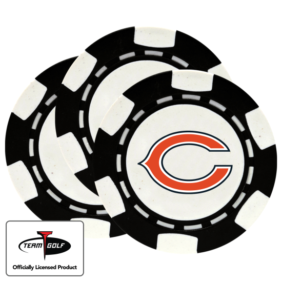 Classic Chicago Bears Poker Chips - 3 Pack