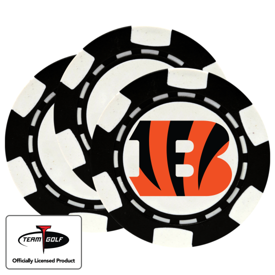 Classic Cincinnati Bengals Poker Chips - 3 Pack