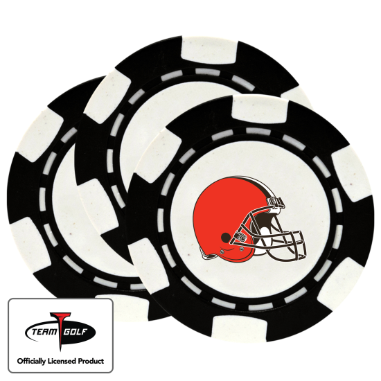 Classic Cleveland Browns Poker Chips - 3 Pack