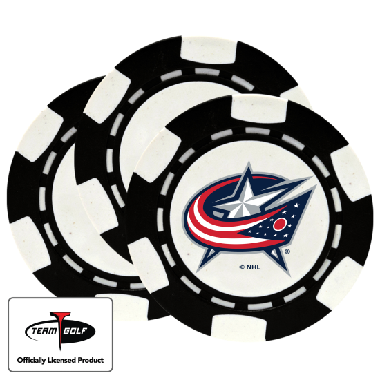 Classic Columbus Blue Jackets Poker Chips - 3 Pack