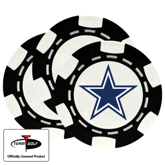 Classic Dallas Cowboys Poker Chips - 3 Pack
