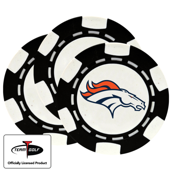 Classic Denver Broncos Poker Chips - 3 Pack