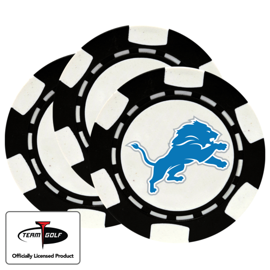 Classic Detroit Lions Poker Chips - 3 Pack