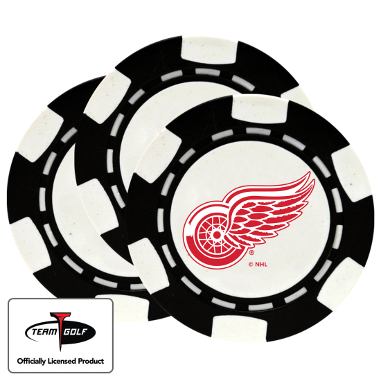 Classic Detroit Red Wings Poker Chips - 3 Pack