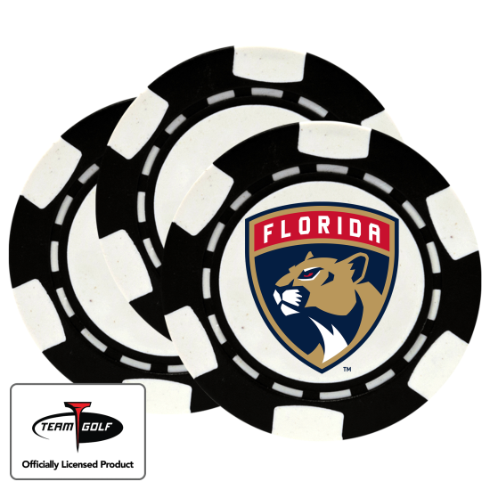 Classic Florida Panthers Poker Chips - 3 Pack