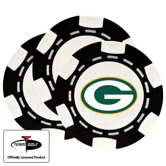 Classic Green Bay Packers Poker Chips - 3 Pack