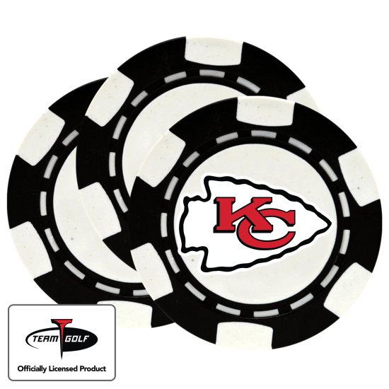 Classic Kansas City Chiefs Poker Chips - 3 Pack