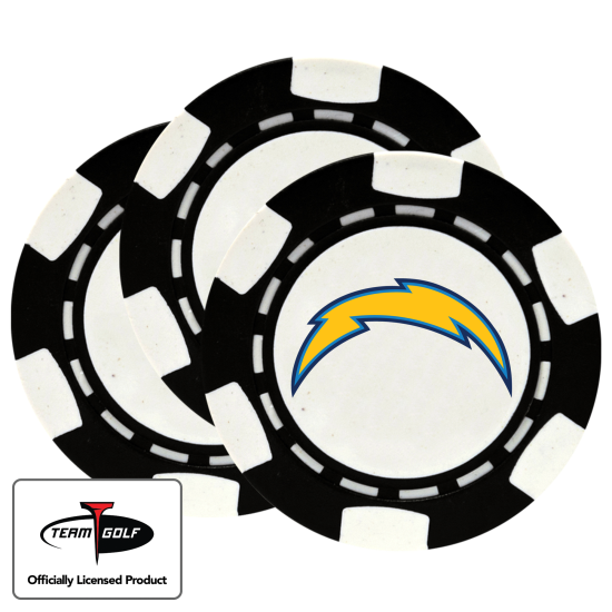 Classic Los Angeles Chargers Poker Chips - 3 Pack
