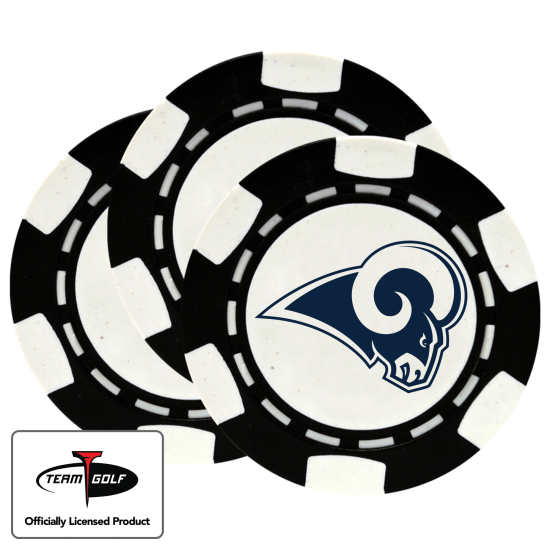 Classic Los Angeles Rams Poker Chips - 3 Pack